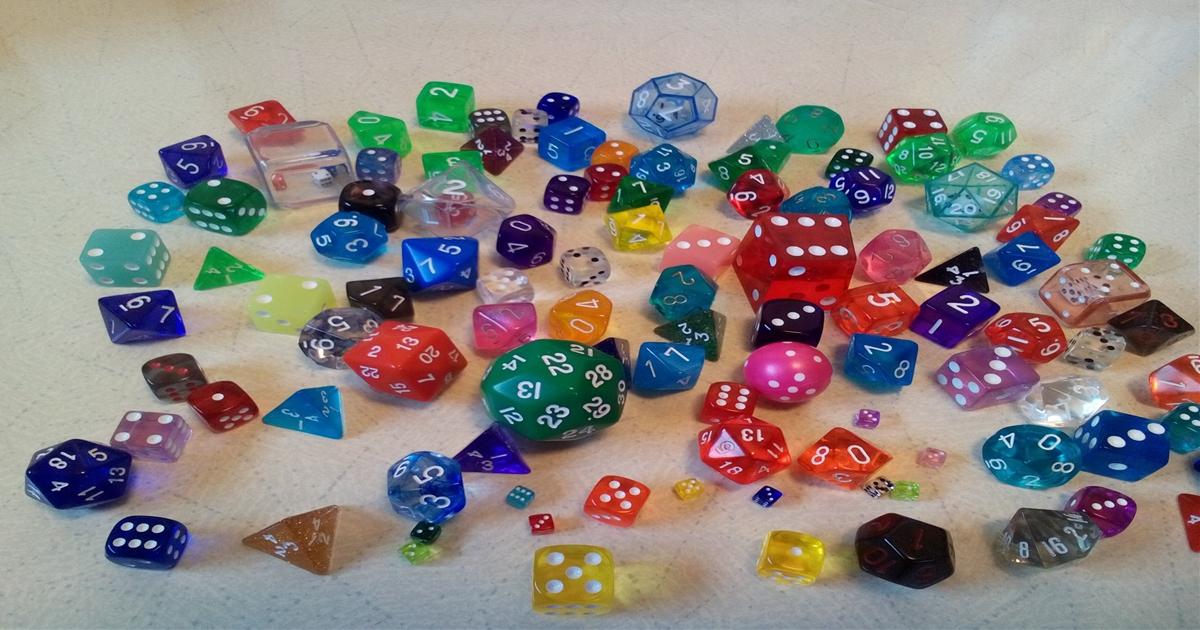1面体から100面体の多面体ダイス・サイコロを集めてみた