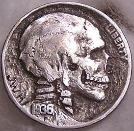 アメリカ-ニッケル骸骨
