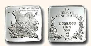 トルコ-2001年-750万リラ