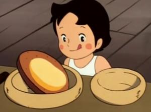 アルプスの少女ハイジ-チーズパンとハイジ
