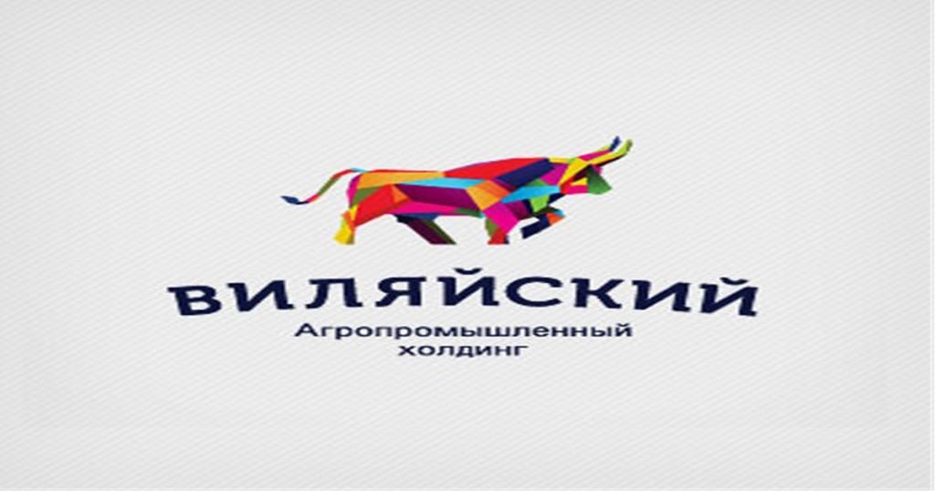カラフルな牛のロゴ