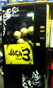 ニューヨーク-サッカーボールの自動販売機-
