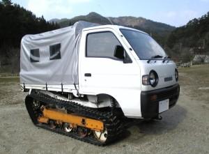 軽トラック+キャタピラ