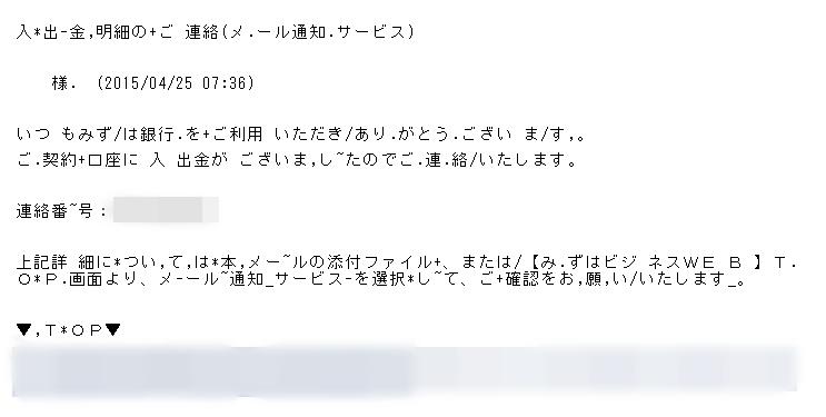 迷惑メール□内容