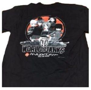 ガールズ&パンツァー WORLD of TANKS Tシャツ